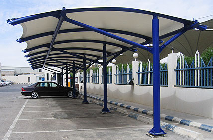 Vel areas lonarias arquitectura textil for Toldos para estacionamiento